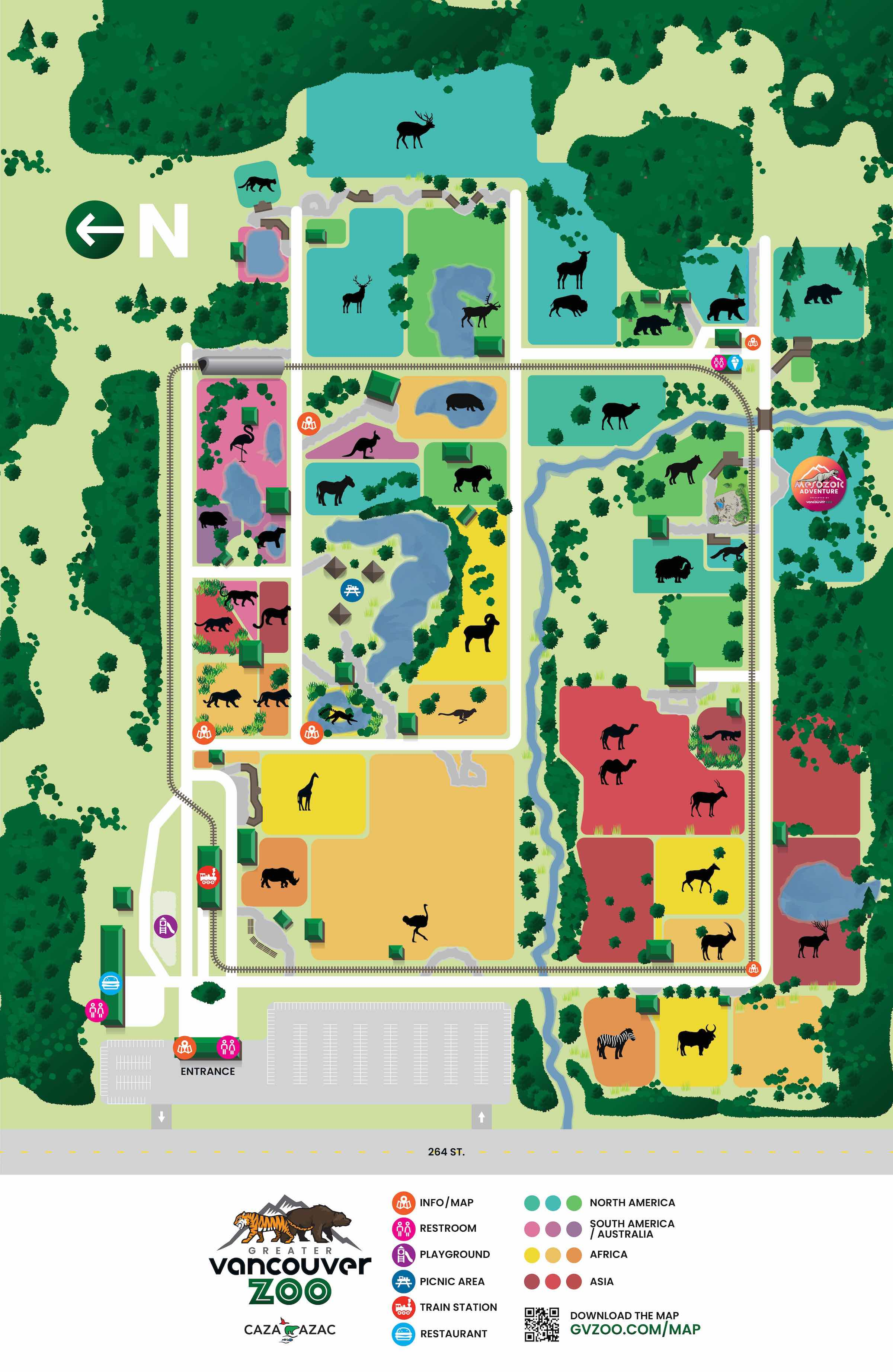 Zoo Map Greater Vancouver Zoo